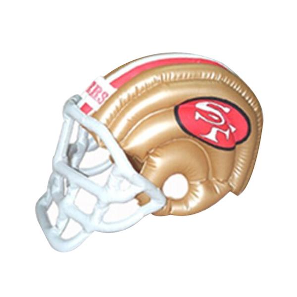 Football Helmet Shaped Inflatable - Air sealed balloon inflatable in the shape of a football helmet.