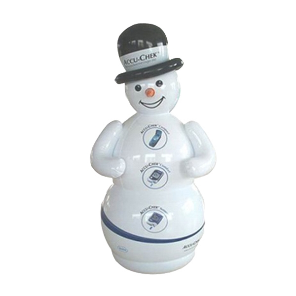 Air Sealed Balloon Inflatable in the Shape of Snowman - Air sealed balloon inflatable in the shape of a snowman.