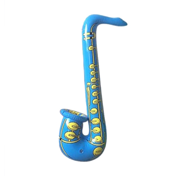 Air Sealed Balloon Inflatable in the Shape of Saxophone - Air sealed balloon inflatable in the shape of a saxophone.  Giant Balloons.