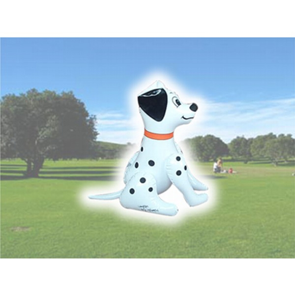 Air Sealed Balloon Inflatable in the Shape of Dog - Air sealed balloon inflatable in the shape of a dog.  Inflatable Characters.