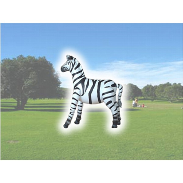Air Sealed Balloon Inflatable in the Shape of Zebra - Air sealed balloon inflatable in the shape of a zebra.  Air Balloon.