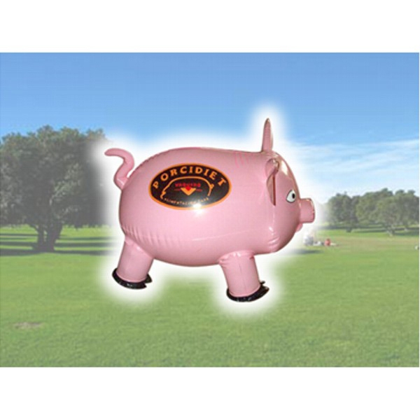 Pig Shaped Inflatable - Air sealed balloon inflatable in shape of pig.  Big Inflatables  Outdoor Inflatables