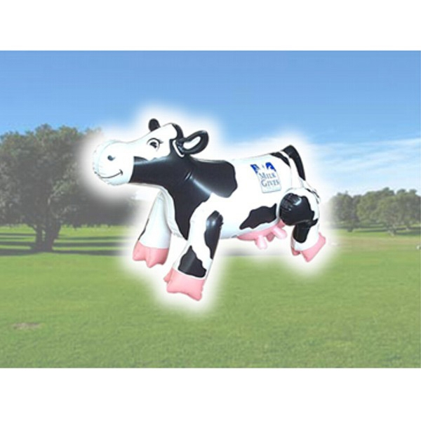 Air Sealed Balloon Inflatable in the Shape of Cow - Air sealed balloon inflatable in the shape of a cow.  Huge Balloon.