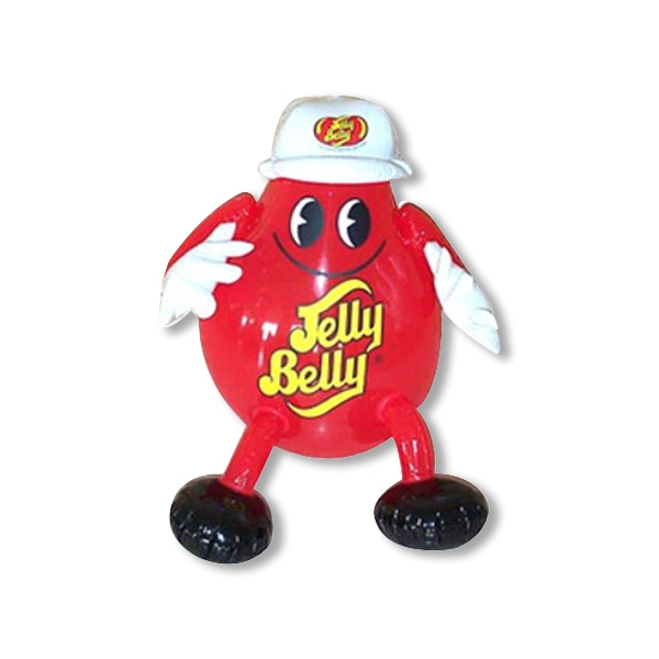 Air Sealed Balloon Inflatable in the Shape of Jelly Belly - Air sealed balloon inflatable in the shape of a jelly belly.