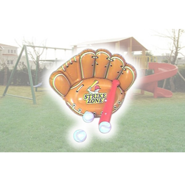 Air Sealed Balloon Inflatable in the Shape of Baseball Glove - Air sealed balloon inflatable in the shape of a baseball glove. Ad Balloons