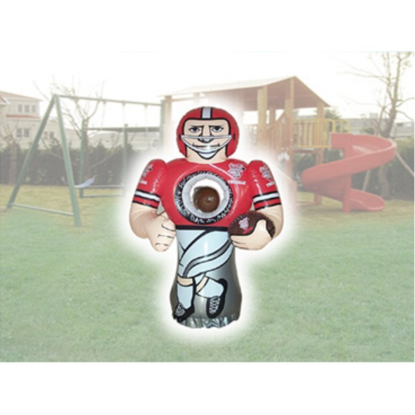 Air Sealed Balloon Inflatable in Shape of Football Player - Air sealed balloon in the shape of a football player.  Inflatable Advertising.