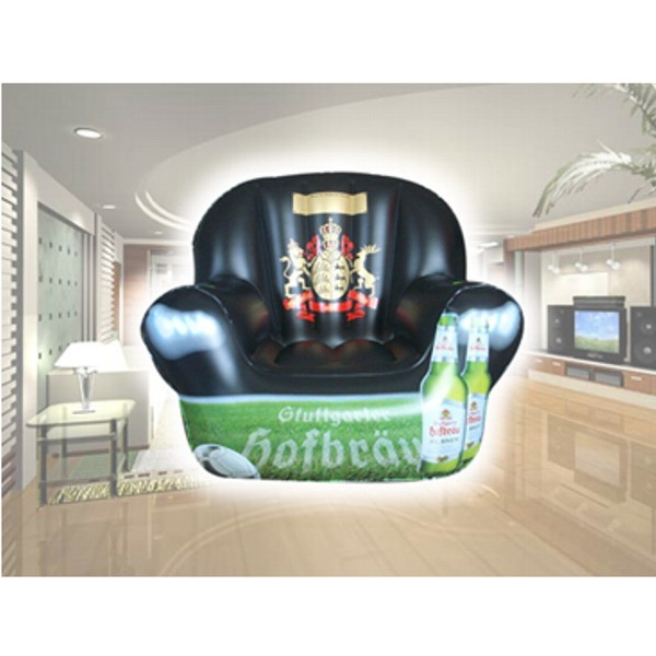 Air Sealed Balloon Inflatable in the Shape of Chair - Air sealed balloon inflatable in the shape of an inflatable chair.