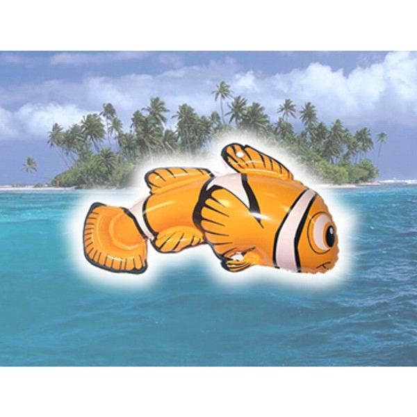Air Sealed Balloon Inflatable in the Shape of Fish - Air sealed balloon inflatable in the shape of a fish.  Huge Inflatable.