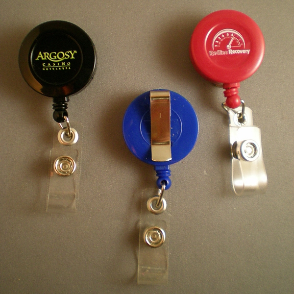 Retractable Badge Holder With Slide On Belt Clip Photo