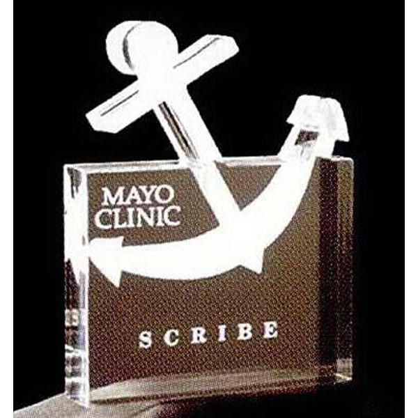 Anchor in Square Shape Stock Acrylic Award