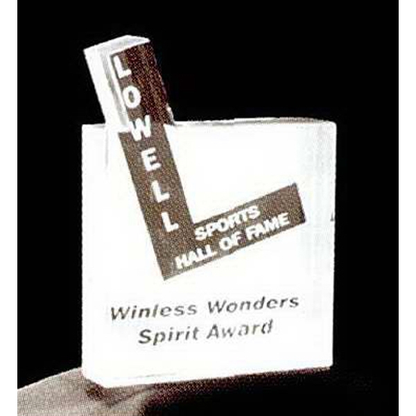 Letter L in Square Shape Acrylic Award