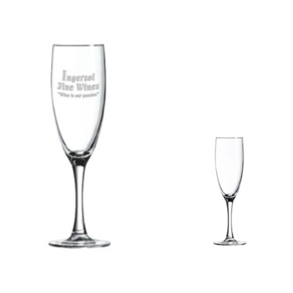 5-3/4oz Champagne Flute with Smooth Stem, spot color