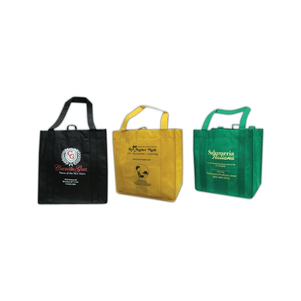 3 Color 2 Sides - Eco-friendly Imported Grocery Tote Bag, 80 Gauge Photo