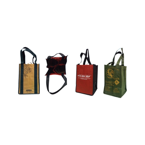 4 Bottle - Eco-friendly, Imported Wine Tote Bag Photo