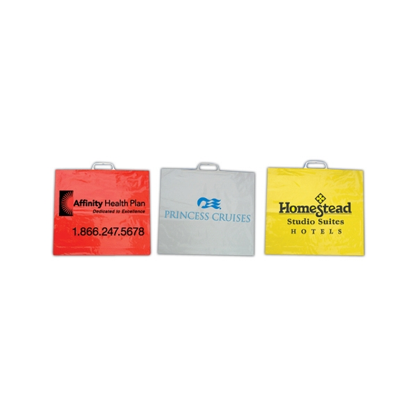 Imported Plastic Shopping Bag With A Rectangle Handle, 250 Gauge Photo