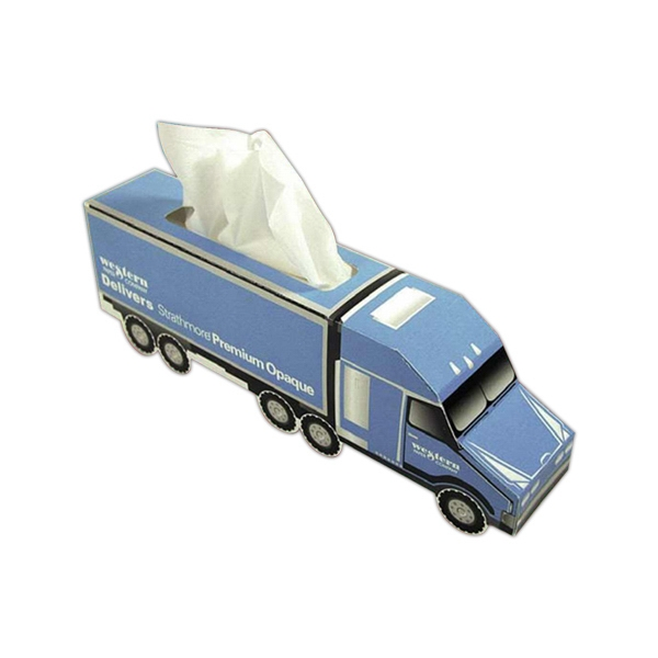 Sniftypak (tm) - Facial Semi Truck Shape Tissue Box Photo
