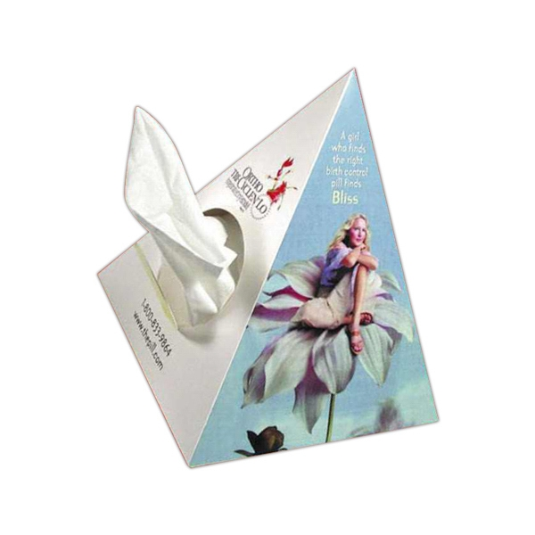 Sniftypak (tm) - Novelty Pyramid - Tricor - Facial Tissue Box Is Pyramid Shape Photo