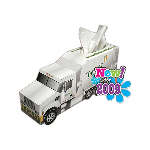 Sniftypak (tm) - Facial Tissue Cement Truck Shaped Tissue Box Photo