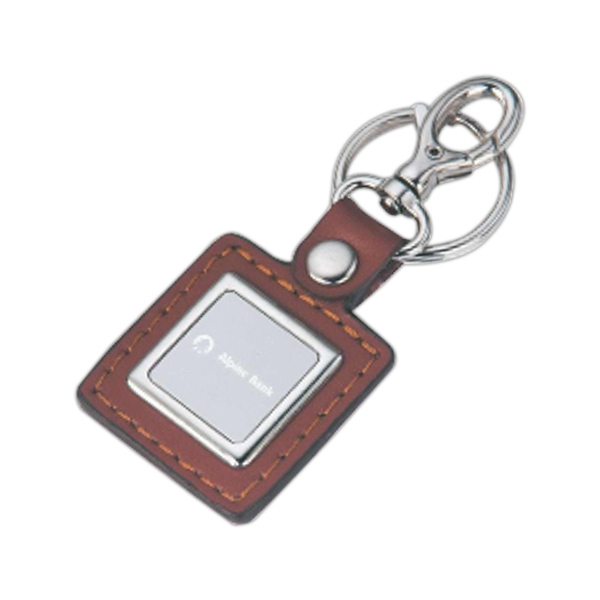 Leatherette Key Tag