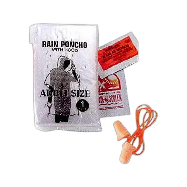 Racing fan kit with rain poncho