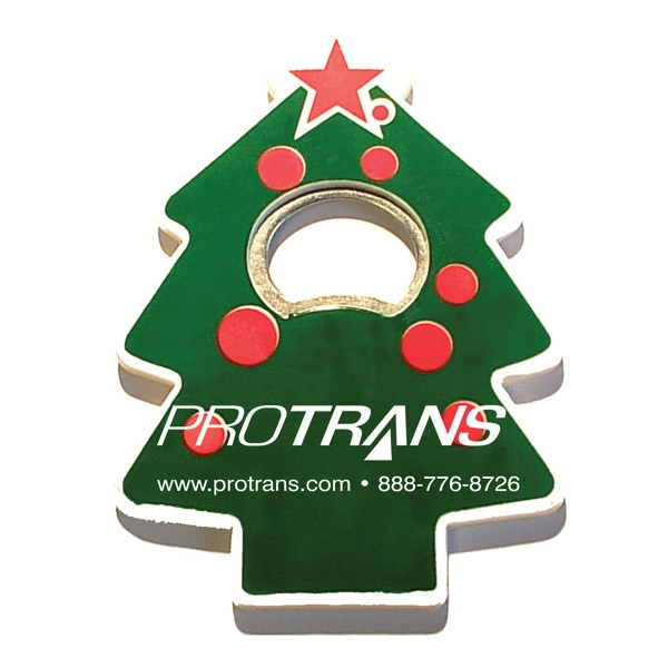 Jumbo size Christmas tree shape magnetic bottle opener