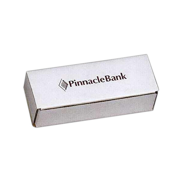 "Addition Of Spot Mount Label - B-flute Corrugated Tuck Box, 6 1/2"" X 2 1/2"" X 1 3/4"" Photo"