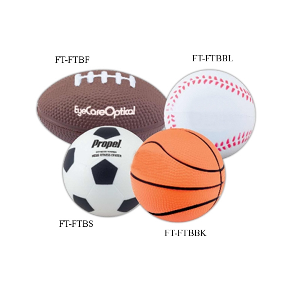 Baseball - Foam Stress Relievers Balls In Sport Shape Photo