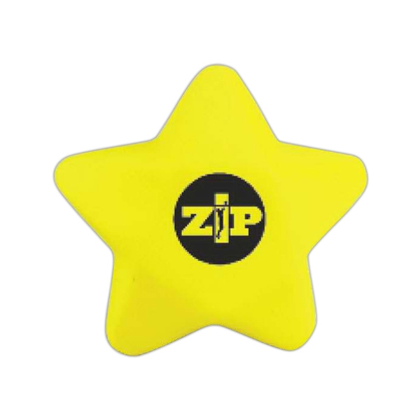 "Squeezable 3"" Yellow Star Tension Buster Photo"