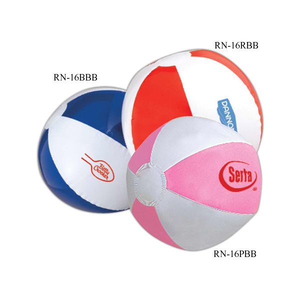 "Beach Ball With 6 Panels, 16"". Phthalate Safe. Measures Inflated Photo"