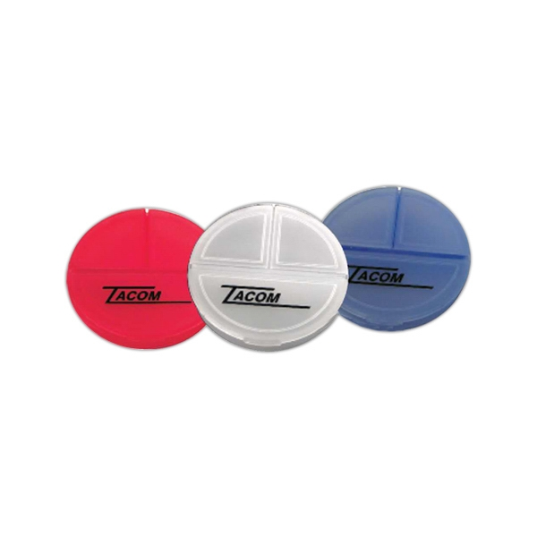 Daily Handy Round Pill Case, That Has Three Separate Pill Compartments Photo