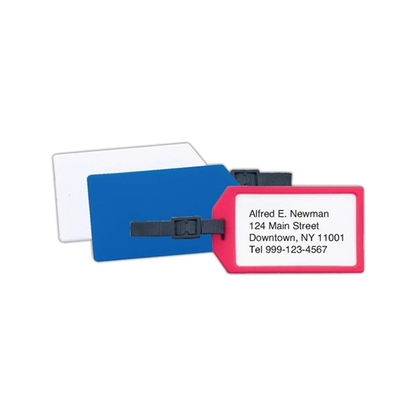 Plastic Business Card Luggage Tag Photo
