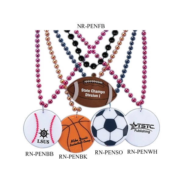 Soccer Ball - Sports Pendant Bead Necklace Photo