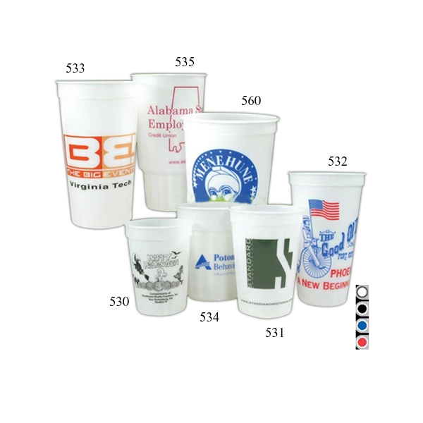 24 Oz - Glow In The Dark Stadium Cup With Fluted Design Photo