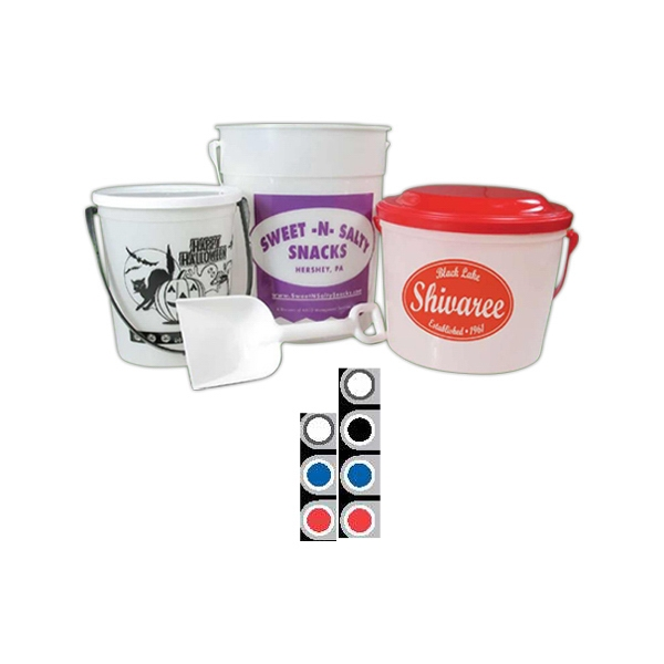 Silkscreened Printed White Flat Lid For Sand Pail Photo