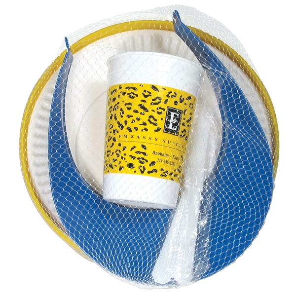 "Picnic Kit Includes 9 1/4"" Flying Disc, Sun Visor And 16 Oz. Stadium Cup Photo"