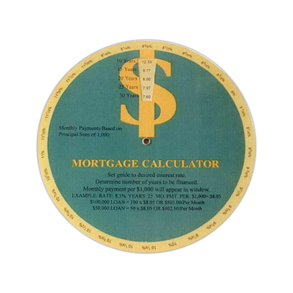 Stock Mortgage Calculator Guide Wheel Calculates Monthly Loan Payments Easily Photo