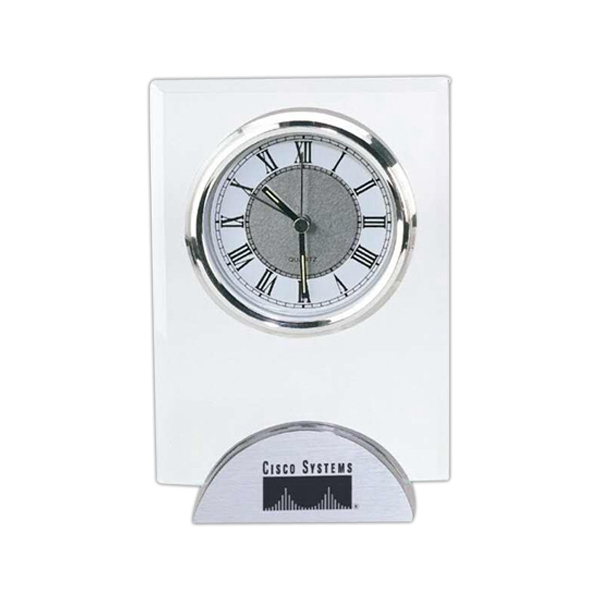 MODERN PLATINUM BASE ANALOG CLOCK