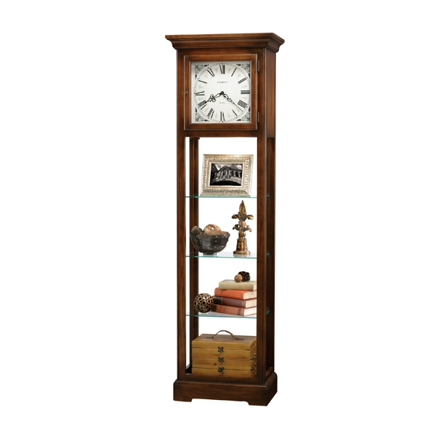 Lerose - Quartz Curio Floor Clock With Cherry Finish Photo