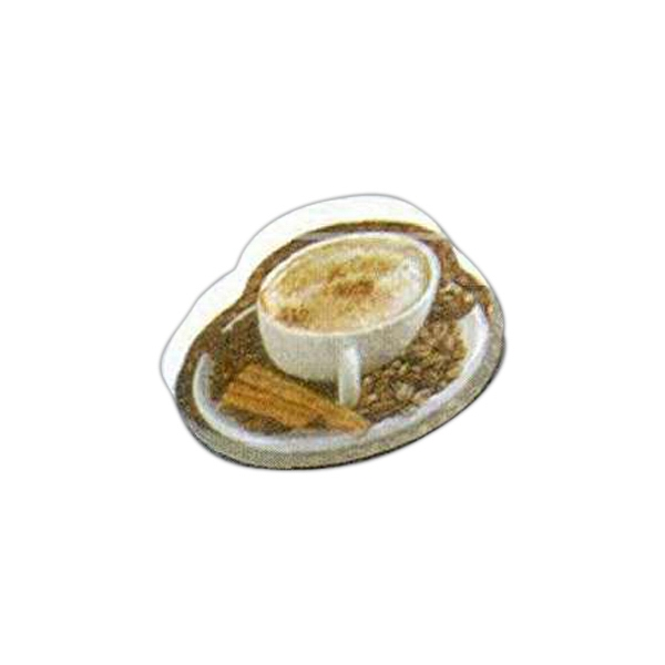 "Coffee Shaped Magnet - Acrylic Die Cut Magnet, 1/8"" Thick, 4 Square Inches Photo"