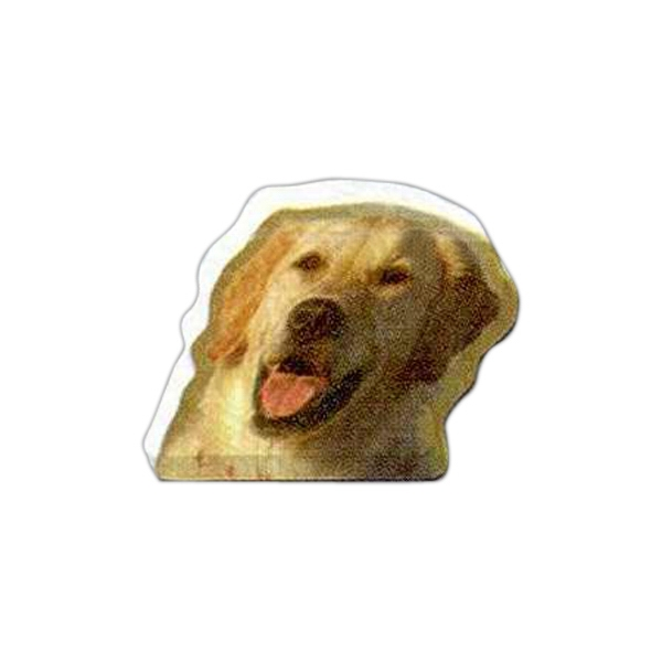 "Dog Shaped Magnet - Acrylic Die Cut Magnet, 1/8"" Thick, 8 Square Inches Photo"