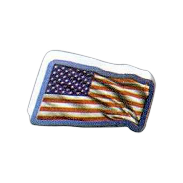 "Flag Shaped Magnet - Acrylic Die Cut Magnet, 1/4"" Thick, 3 Square Inches, Free Custom Die Photo"