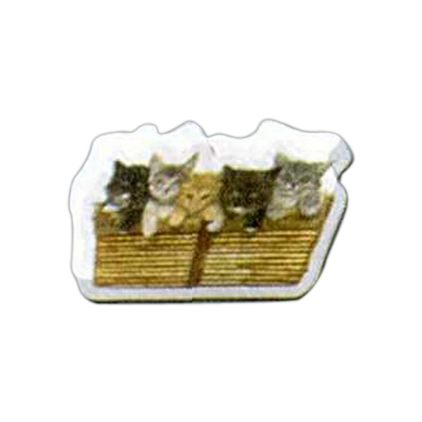 "Kittens Shaped Magnet - Acrylic Die Cut Magnet, 1/4"" Thick, 3 Square Inches, Free Custom Die Photo"