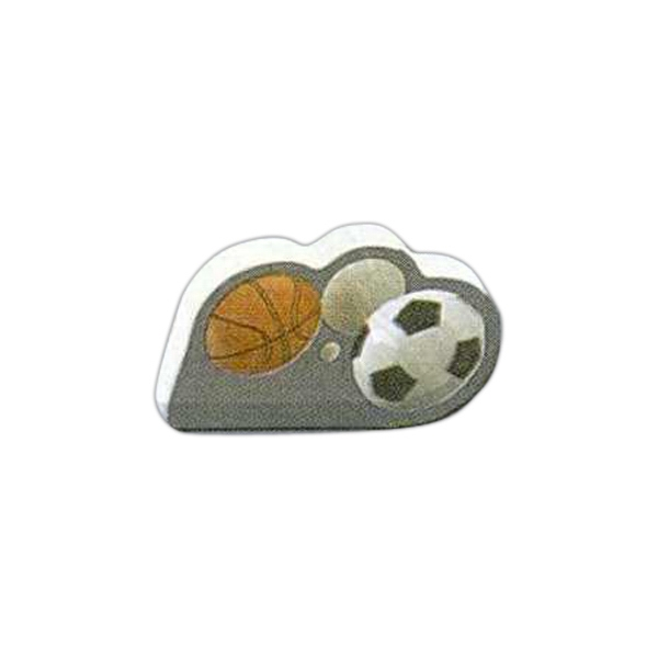 "Sports Shaped Magnet - Acrylic Die Cut Magnet, 1/8"" Thick, 3 Square Inches Photo"