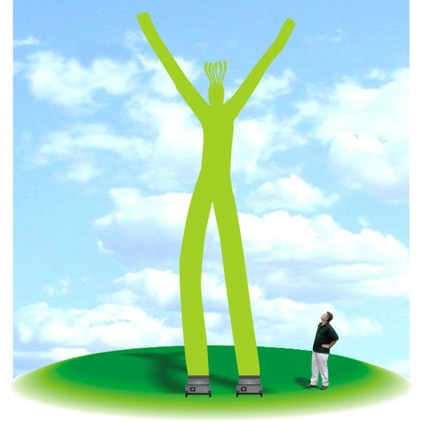 Inflatable 28' tall Fly Guy Tube Air Dancer - Nylon rip-stop 28' tall inflatable in shape of a person.