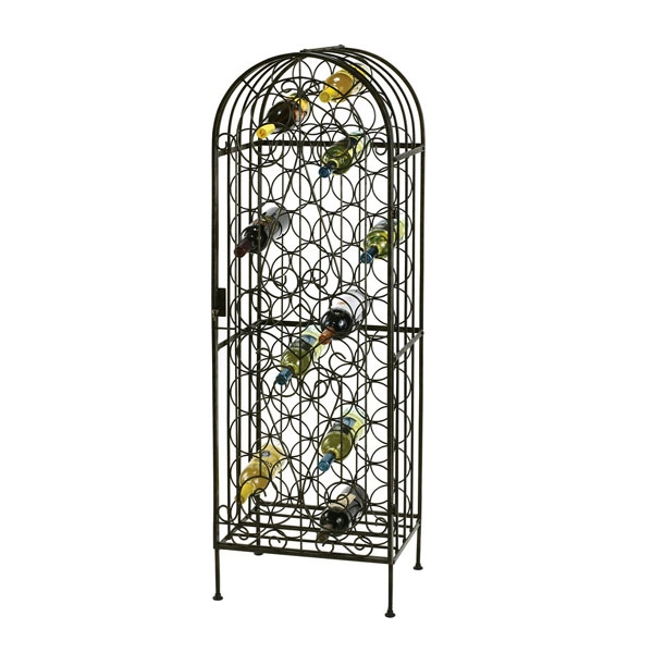 Wine Arbor - Wrought Iron Wine Rack, Show Cases Up To 45 Bottles Of Wine Photo
