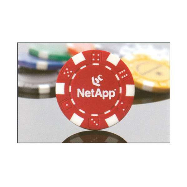 Casino-style, Heavyweight 11.5-gram, Imprinted Poker Chip Photo