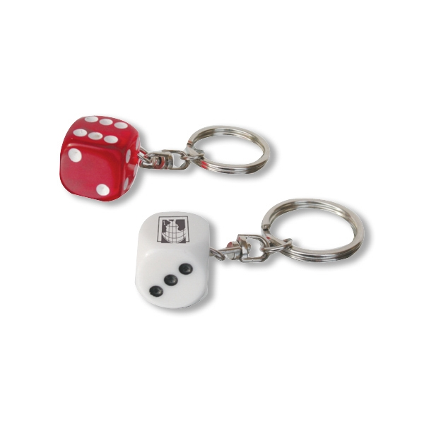 "Dice Key Chain Feature 5/8"" Die That Fits Comfortably In Your Pocket Photo"