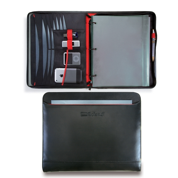 Matrix - Portfolio With Exterior Pocket Accented With Red Piping Photo