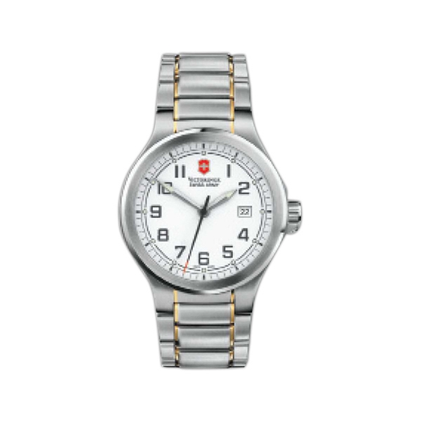 Peak Ii;swiss Army (r) - Water Resistant Watch With White Dial Two-tone Bracelet Photo
