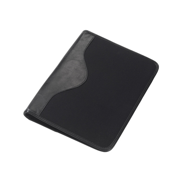 Canvas Padfolio With Leather Trim, Writing Tablet And Cotton Twill Lining Photo